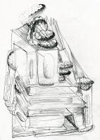 Books & Biscuits | 21x30 cm | pencil on paper | 2016
